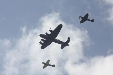 Avro Lancaster B.I, Hawker Hurricane Mk. IIC & Supermarine Spitfire PR. XIX