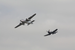 North American B-25J Mitchell & Vought F4U-4 Corsair