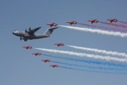 The Red Arrows & Airbus A400M Atlas