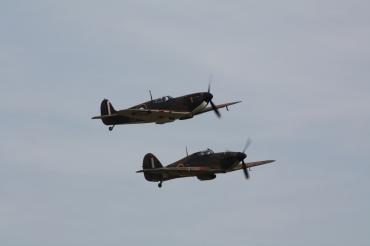 Hawker Hurricane Mk. XIIA & Supermarine Spitfire Mk. I
