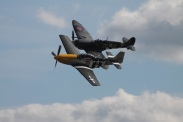 "North American P-51D Mustang ""Ferocious Frankie"" & Supermarine Spitfire LF. IXB"