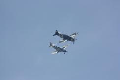 "North American P-51C Mustang ""Princess Elizabeth"" & Republic P-47G Thunderbolt ""Snafu"""