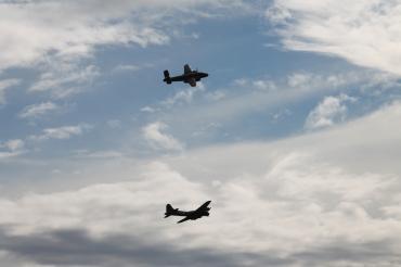 "Boeing B-17G Flying Fortress ""Sally B"" & North American B-25J Mitchell ""Sarinah"""