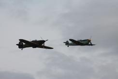 Hawker Hurricane Mk. XIIA & Hispano HA-1112-M1L Buchon