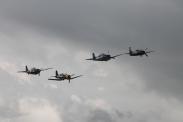 Grumman F6F-3 Hellcat, Grumman F8F-2P Bearcat, Grumman FM-2 Wildcat & Goodyear FG-1D Corsair