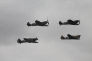 Supermarine Spitfire LF. VBs, Curtiss P-40F Kittyhawk Mk. II & Hawker Hurricane Mk. IIA