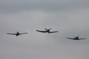 Goodyear FG-1D Corsair, Curtiss Hawk 75A-1 & Grumman FM-2 Wildcat