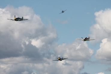 "Hispano HA-1112-M1L Buchons & North American P-51D Mustangs ""Ferocious Frankie"" & ""Miss Velma"""