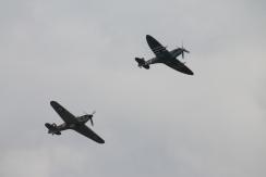 Supermarine Spitfire LF. IXE & Hawker Hurricane Mk. IIC