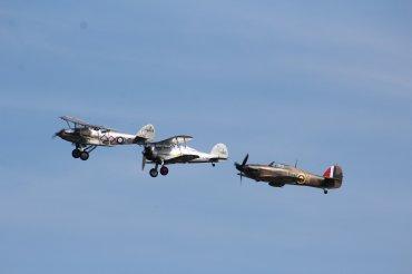 Hawker Demon I, Gloster Gladiator Mk. I & Hawker Hurricane Mk. I