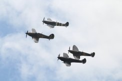 Hawker Hurricane Mk. IIC, Supermarine Spitfires LF. XVIE, LF. VB & Mk. IIA