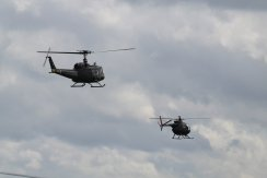 Bell UH-1H Iroquois & Hughes OH-6A Cayuse