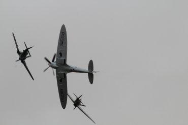 Hawker Hurricane Mk. IIC, Supermarine Spitfires LF. XVIE & PR. XIX
