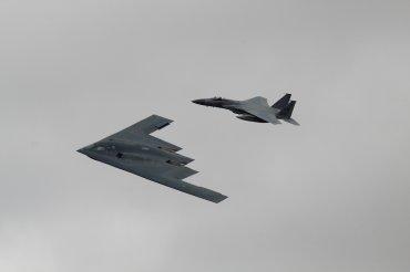 Northrop-Grumman B-2A Spirit & McDonnell-Douglas F-15C Eagle